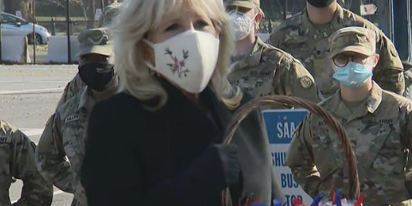 Conservatives are pissed at Dr. Jill Biden for… delivering freshly baked cookies to troops
