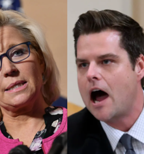 Liz Cheney makes homophobic dig at Matt Gaetz, once again proving they're both awful