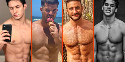 Cheyenne Jackson's spread, Simon Dunn's sweets, & Noah Beck's chest