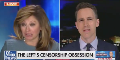 WATCH: Fox News' Maria Bartiromo wails to Josh Hawley about losing Twitter followers
