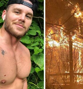 Adult performer Matthew Camp's home destroyed in horrific arson attack