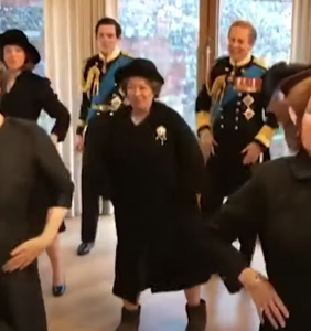 Here's a video of 'The Crown' cast busting moves to Lizzo. You're welcome.