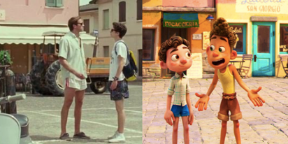 People are deeply divided over the 'Call Me By Your Name' vibes in Pixar's new animated film 'Luca'