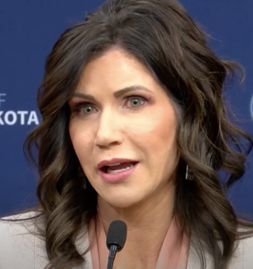South Dakota's anti-mask governor hosted 25 person dinner party at her home because of course