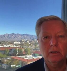 "Twitter is absolutely losing it over Lindsey Graham's viral ""Plug that hole!"" moment"