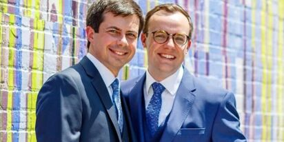 Pete Buttigieg talks about his proposal to husband Chasten at O'Hare Airport