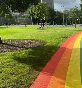 Sydney just unveiled this amazing, permanent, rainbow path