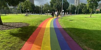 Sydney just unveiled this amazing, permanent, rainbow path