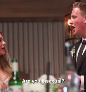 Groom outed as bisexual… on camera… in front entire wedding party