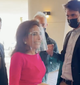 Video of Jeanine Pirro being confronted by two guys posing as fans is both hilarious and awkward AF