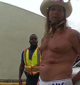 """""""Naked Cowboy"""" arrested at Daytona Beach Bike Week after shouting antigay slurs at officer"""