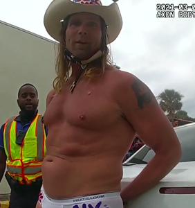 """Naked Cowboy"" arrested at Daytona Beach Bike Week after shouting antigay slurs at officer"