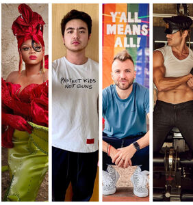 Vaccines, fashion, & visibility: Best of the Queerty Instagram, April edition