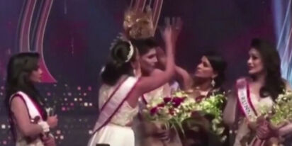 Chaos at the 'Mrs. Sri Lanka' pageant, as a former queen yanks the crown off winner's head