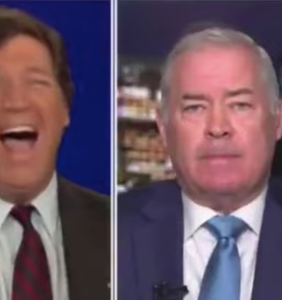 Tucker Carlson melts down over Chauvin verdict, screams and cackles like a racist psychopath