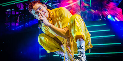 Olly Alexander is ready to wear some colored tights