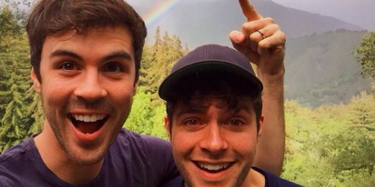 Co-stars and real-life husbands Ben Louis and Blake Lee push for more LGBTQ representation in film