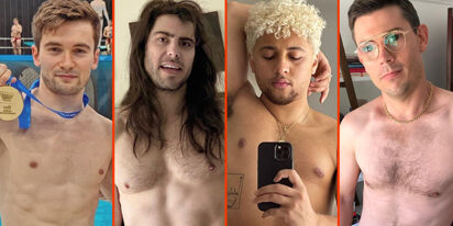 "Ryan O'Connell's furry chest, Max Emerson's birthday suit, & Andrew W.K.'s deep ""V"""