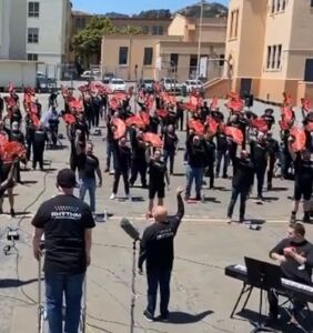 WATCH: SF Gay Men's Chorus gather for first time in 15 months to mark Harvey Milk Day