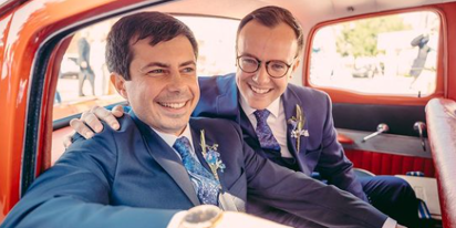 Chasten Buttigieg on his journey from conservative town to kissing Pete on the campaign trail