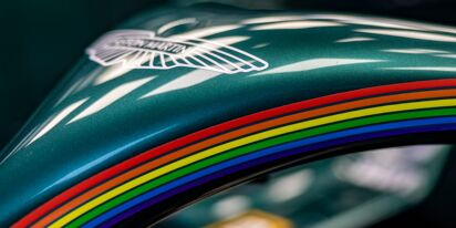 Aston Martin adds Pride Month rainbows to its F1 cars at French Grand Prix