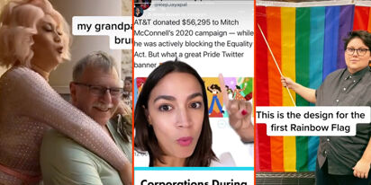 Grandpa's first drag brunch, AOC's brand-shaming, & a rainbow flag history lesson