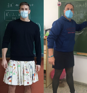 Male teachers in Spain are showing up to class in skirts for the best possible reason