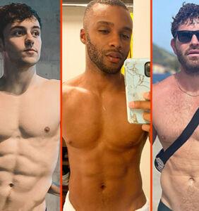Matthew Mitcham's butt tan, Paolo Bellucci's smooch,  & Jaymes Vaughan's fanny pack