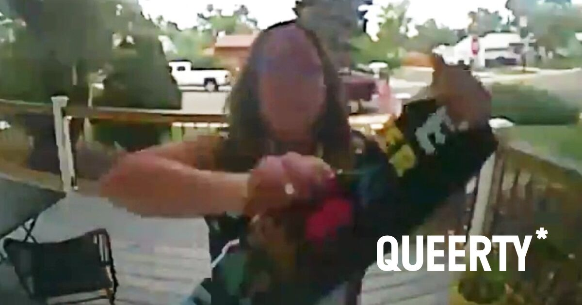 Cursing woman caught on camera destroying neighbor's 'love is love' and BLM sign