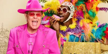 Lil Nas X and Elton John team up and swap outfits for new commercial