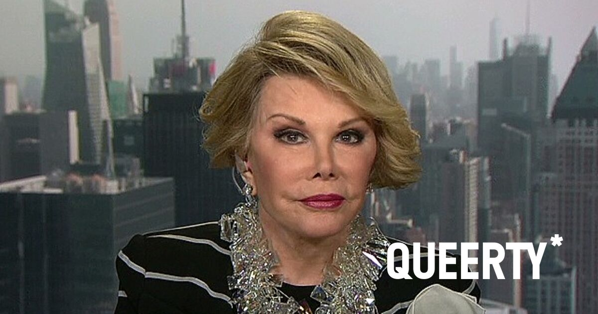 You'll never guess which rising gay icon will play Joan Rivers in her biopic…