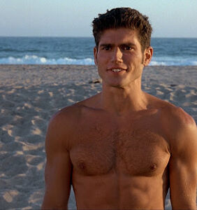 So, can we talk about the oiled up, half naked men beach wrestling?