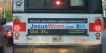 """Christian extremists advertise """"JesusWeen"""" on buses, urge people to let Jesus inside them on Oct 31"""