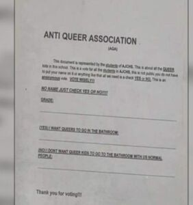 """Illinois high school students form """"Anti-Queer Association"""""""