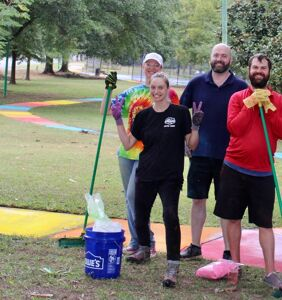 Check out this unique, Atlanta rainbow path – Halloween weekend only