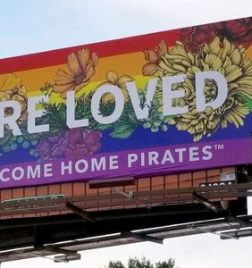 Why are billboards telling LGBTQ youth they are loved springing up in US cities?